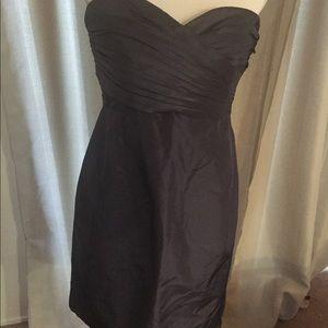 J-Crew Strapless Silk Blue Cocktail Dress